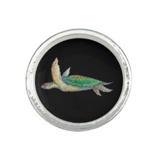 anneau de tortue de mer bague avec photo