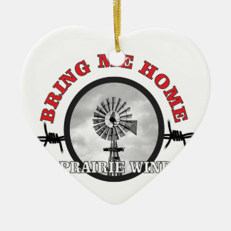 anneau de vent de prairie ornement cœur en céramique