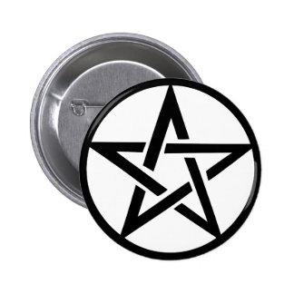 anneau noir de pentagone étoilé de pentagramme pin's