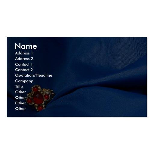 Anneau rouge sur le matériel bleu modèles de cartes de visite