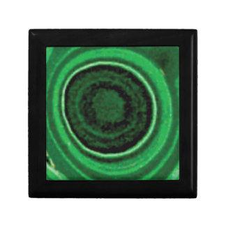 anneau vert noir boîte à souvenirs