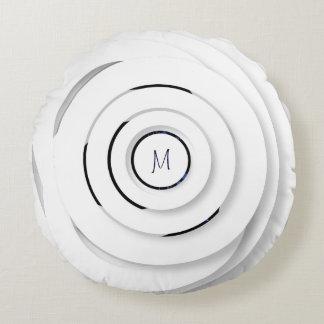 Anneaux blancs de recouvrement - faux 3D - coussin