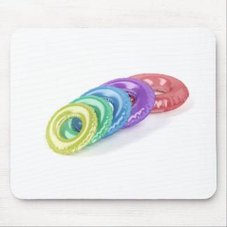 Anneaux colorés de bain tapis de souris