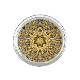 Anneaux de coutume de kaléidoscope de métal bague
