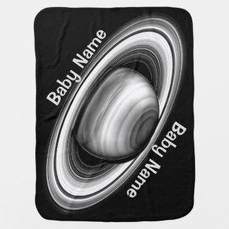 Anneaux de géant de gaz Saturn - système solaire Couvertures Pour Bébé