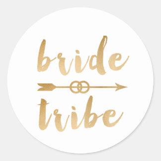 anneaux de mariage élégants de flèche de tribu de sticker rond