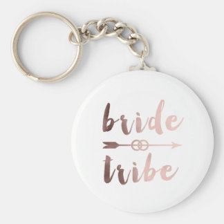 anneaux de mariage roses de flèche de tribu de porte-clé rond