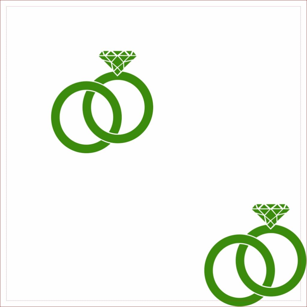 Verts Anneaux de mariage