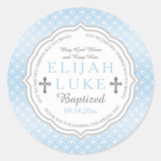 Anneaux d'éternité de garçon du baptême | sticker rond