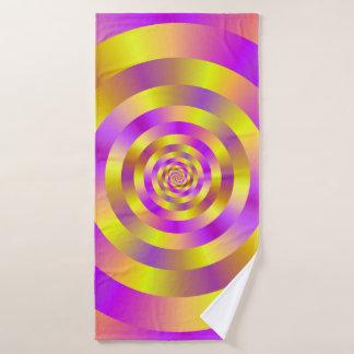 Anneaux en spirale jaunes et roses