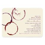 Anneaux nuptiales de tache de vin de l'invitation