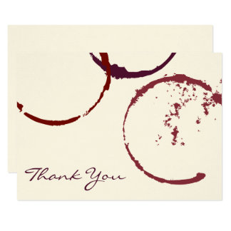 Anneaux plats de tache de vin des cartes de note carton d'invitation 8,89 cm x 12,70 cm