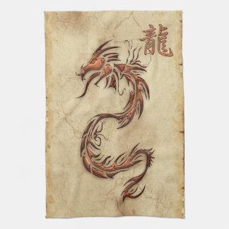 Année chinoise de la serviette de l'Asie de dragon Serviette Pour Les Mains