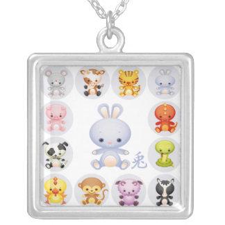 Année chinoise de zodiaque du collier de lapin