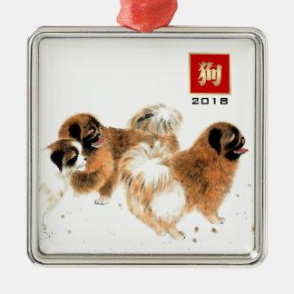 Année chinoise des ornements 2018 de cadeau de