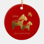 Année chinoise des ornements de cadeau de cheval