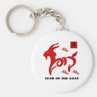 Année chinoise des porte - clés de chèvre/cadeau porte-clé rond