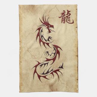 Année chinoise des serviettes d'Asiatique de drago Serviettes Pour Les Mains