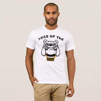 Année chinoise du T-shirt de chien