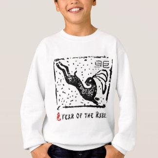 Année chinoise du T-shirt de lapin