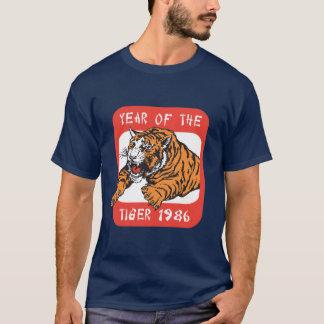 Année chinoise du T-shirts foncé du tigre 1986