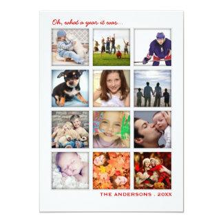 Année dans la carte de vacances de collage de carton d'invitation  12,7 cm x 17,78 cm