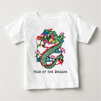 Année de coupe de papier du T-shirt de dragon
