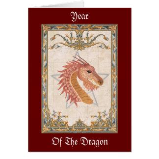 Année de la carte de voeux de dragon