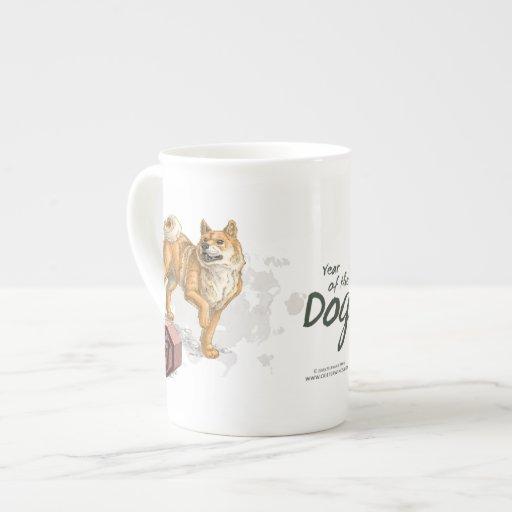 Année de l'animal chinois de zodiaque de chien mug en porcelaine