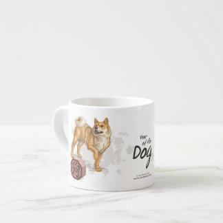 Année de l'animal chinois de zodiaque de chien tasse expresso