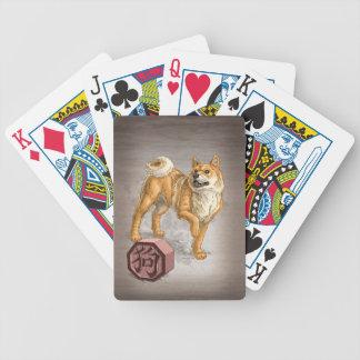 Année de l'art chinois d'animal de zodiaque de chi jeux de cartes bicyle