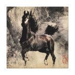 Année du cheval 2014 - art de peinture chinoise toile tendue sur châssis