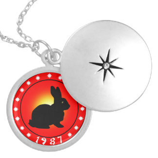 Année du lapin 1987 médaillon rond