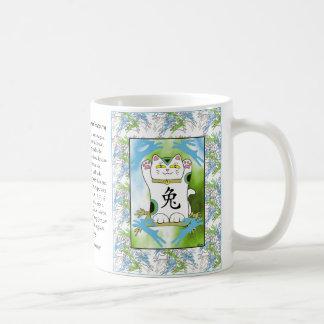 Année du lapin Neko en myrtille Mug