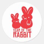 Année du lapin sticker rond
