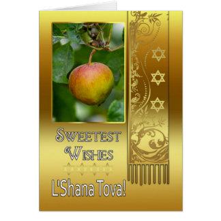 Année juive de Rosh Hashanah nouvelle - L'Shana Carte De Vœux