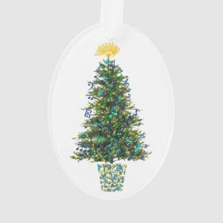 Année personnalisable d'arbre de Noël de symboles