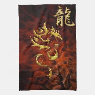 Année rouge de fractale de la serviette d'Asiatiqu Serviettes Pour Les Mains