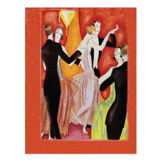 Années '20 d'hurlement dansant des couples carte postale