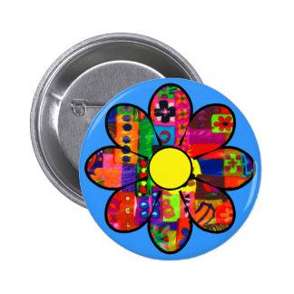 Années '60 flower power badge
