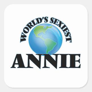 Annie la plus sexy du monde sticker carré