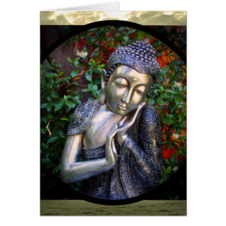 Anniversaire argenté de la carte | Bouddha