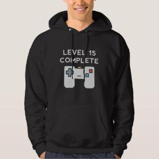 Anniversaire complet du niveau 15 15ème veste à capuche