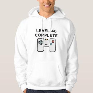 Anniversaire complet du niveau 40 quarantième veste à capuche