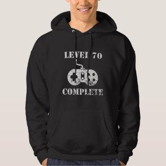 Anniversaire complet du niveau 70 soixante-dixième veste à capuche