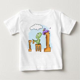 Anniversaire d'amusement de Dino ęr T-shirt Pour Bébé
