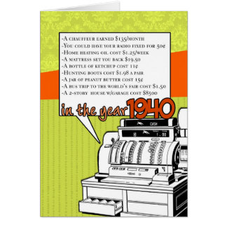 Anniversaire d'anecdotes amusantes - coût de la vi carte de vœux