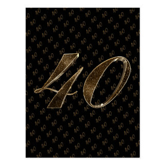 Anniversaire d'anniversaire d'or noir du numéro 40 carte postale