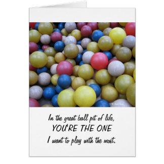 Anniversaire-Dans la carte de mine de boule