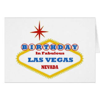 Anniversaire dans la carte fabuleuse de Las Vegas